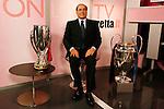 Milan, Via Solferino, 18 October 2007. Silvio Berlusconi\'s visit to sports daily Gazzetta dello Sport, for an interview in chat with readers © Fulvia Farassino