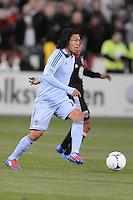 Sporting Kansas City midfielder Roger Espinoza (15) Sporting Kansas City defeated D.C. United  1-0 at RFK Stadium, Saturday March 10, 2012.