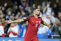 San Jose, CA - March 24, 2017: The U.S. Men's National team go up 1-0 over Honduras in first half action from a goal by Sebastian Lletget in their 2018 FIFA World Cup Qualifying Hexagonal match at Avaya Stadium.