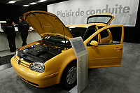 Montreal's AUTO SHOW 2007 feature many fuel-efficient cars such as<br />  the Volkswagen Golf City 2007<br /> <br /> <br /> photo :  Images Distribution