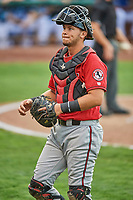 Pabel Manzanero (47) of the Billings Mustangs during a game against the Ogden Raptors at Lindquist Field on August 17, 2018 in Ogden, Utah. Billings defeated Ogden 6-3. (Stephen Smith/Four Seam Images)