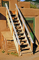 Traditional ladder at adobe dwelling of the Ancestral Puebloans, Southwestern United States