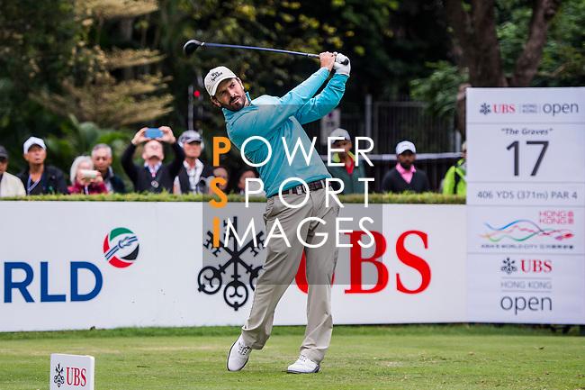 Thomas Aiken of South Africa tees off during the day three of UBS Hong Kong Open 2017 at the Hong Kong Golf Club on 25 November 2017, in Hong Kong, Hong Kong. Photo by Marcio Rodrigo Machado / Power Sport Images