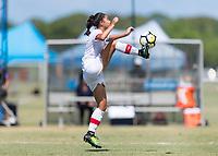 Bradenton, FL - Sunday, June 12, 2018: Sonia Walk prior to a U-17 Women's Championship 3rd place match between Canada and Haiti at IMG Academy. Canada defeated Haiti 2-1.