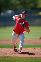 Philadelphia Phillies pitcher James McArthur (26) during a Minor League Spring Training game against the Toronto Blue Jays on March 29, 2019 at the Carpenter Complex in Clearwater, Florida.  (Mike Janes/Four Seam Images)
