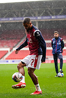 3rd October 2020; City Ground, Nottinghamshire, Midlands, England; English Football League Championship Football, Nottingham Forest versus Bristol City; Lewis Grabban of Nottingham Forest warms-up prior to the match