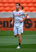 April 28, 2013: Houston Dynamo defender Anthony Arena #21 warm up before Major League Soccer match in Houston  TX. Houston Dynamo draw 1-1 against Colorado Rapids.