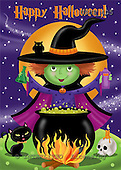 Janet, CUTE ANIMALS, halloween, paintings+++++,USJS405,#ac#