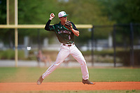 Dartmouth Big Green second baseman Dustin Shirley (6) throws to first base during a game against the Southern Maine Huskies on March 23, 2017 at Lake Myrtle Park in Auburndale, Florida.  Dartmouth defeated Southern Maine 9-1.  (Mike Janes/Four Seam Images)
