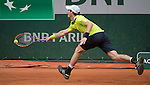 Andy Murray (GBR) takes the first two sets against Marinko Matosevic (AUS) at  Roland Garros being played at Stade Roland Garros in Paris, France on May 29, 2014