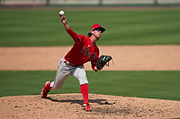 Philadelphia Phillies pitcher Austin Ross (16) during a Minor League Spring Training game against the Detroit Tigers on April 17, 2021 at Joker Marchant Stadium in Lakeland, Florida.  (Mike Janes/Four Seam Images)