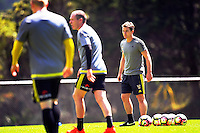 Coach Chris Greenacre watches the Wellington Phoenix training at Newtown Park in Wellington, New Zealand on Tuesday, 20 December 2016. Photo: Dave Lintott / lintottphoto.co.nz