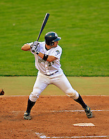 7 July 2008: Vermont Lake Monsters' catcher Derek Norris in action against the Batavia Muckdogs at Centennial Field in Burlington, Vermont. The Lake Monsters defeated the Muckdogs 3-2 in the final game of their 3-game series...Mandatory Photo Credit: Ed Wolfstein Photo