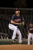 AZL Indians 1 relief pitcher Jake Miednik (64) delivers a pitch during an Arizona League game against the AZL White Sox at Goodyear Ballpark on June 20, 2018 in Goodyear, Arizona. AZL Indians 1 defeated AZL White Sox 8-7. (Zachary Lucy/Four Seam Images)