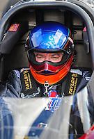 Jan 24, 2009; Chandler, AZ, USA; NHRA top fuel dragster driver Steve Faria during testing at the National Time Trials at Firebird International Raceway. Mandatory Credit: Mark J. Rebilas-