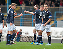 Dundee's Craig Beattie (29) celebrates after he scores their first goal.