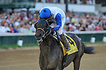 Neck'n Neck ridden by Leandro Goncalves and trained by Ian Wilkes take the G3 Matt Winn Stakes at Churchill Downs in Louisville, Kentucky Saturday June 16, 2012.