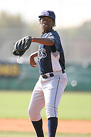 March 19th 2008:  Tyree Hayes of the Tampa Bay Devil Rays minor league system during Spring Training at the Raymond A. Naimoli Complex in St. Petersburg, FL.  Photo by:  Mike Janes/Four Seam Images