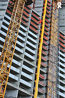 Skyscraper facade under construction, Honolulu - Oahu Island, Hawaii<br />  (Licence this image exclusively with Getty: http://www.gettyimages.com/detail/85071269 )