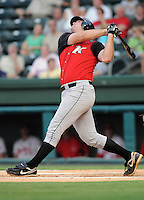 August 25, 2009: Infielder Dan Black (31) of the Kannapolis Intimidators, 2009 14th round draft pick of the Chicago White Sox out of Purdue University, in a game at Fluor Field at the West End in Greenville, S.C. Photo by: Tom Priddy/Four Seam Images