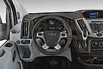 Car pictures of steering wheel view of a 2018 Ford Transit 250 Van Med Roof Sliding Pass. 130 WB 2 Door Van Steering Wheel