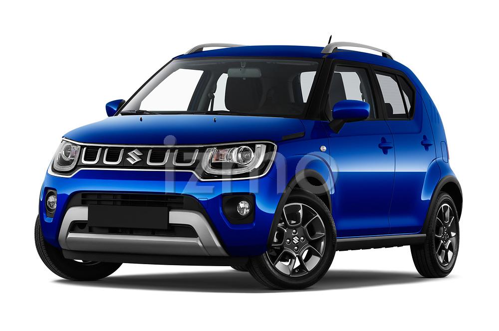 Stock pictures of low aggressive front three quarter view of 2020 Suzuki Ignis GL+ 5 Door Hatchback Low Aggressive