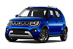 Stock pictures of low aggressive front three quarter view of 2020 Suzuki Ignis GL+ 5 Door Hatchback Low Aggressive