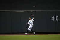 Salt River Rafters center fielder Victor Victor Mesa (10), of the Miami Marlins organization, during an Arizona Fall League game against the Naranjeros de Hermosillo on September 24, 2019 at Salt River Fields at Talking Stick in Phoenix, Arizona. Salt River defeated Hermosillo 4-1. The Naranjeros, of the Mexican Pacific League, played in Scottsdale as part of the Mexican baseball Fiesta. (Zachary Lucy/Four Seam Images)