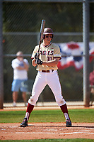 Boston College Eagles right fielder Donovan Casey (30) at bat during a game against the Central Michigan Chippewas on March 3, 2017 at North Charlotte Regional Park in Port Charlotte, Florida.  Boston College defeated Central Michigan 5-4.  (Mike Janes/Four Seam Images)
