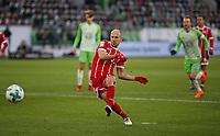 17.02.2018, Football 1. Bundesliga 2017/2018, 23.  match day, VfL Wolfsburg - FC Bayern Muenchen, in Volkswagen Arena Wolfsburg. Arjen Robben (Bayern Muenchen) verschiesst penalty *** Local Caption *** © pixathlon<br /> <br /> Contact: +49-40-22 63 02 60 , info@pixathlon.de