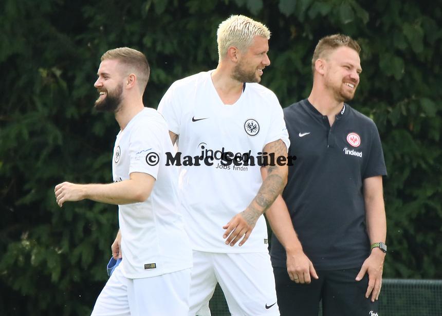 Marc Stendera (Eintracht Frankfurt), Marco Russ (Eintracht Frankfurt) - 04.07.2018: Eintracht Frankfurt Trainingsauftakt, Commerzbank Arena