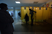Crimean Ukrainians vote during the referendum on whether its majority Russian-speaking population wants to demand greater autonomy from Ukraine or break away completely and join Russia. Simferopol, Crimea