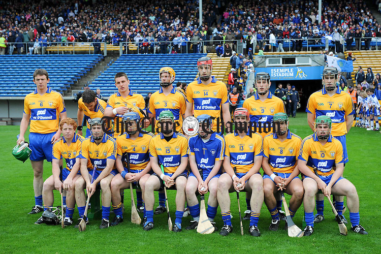 The Clare team for their Senior Munster Championship game in Thurles. Photograph by John Kelly..