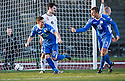 Queen of the South's Nicky Clark celebrates after he scores their first goal ...