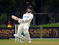 Kane Williamson dodges a bouncer during day three of the second International Test Cricket match between the New Zealand Black Caps and Pakistan at Hagley Oval in Christchurch, New Zealand on Tuesday, 5 January 2021. Photo: Dave Lintott / lintottphoto.co.nz