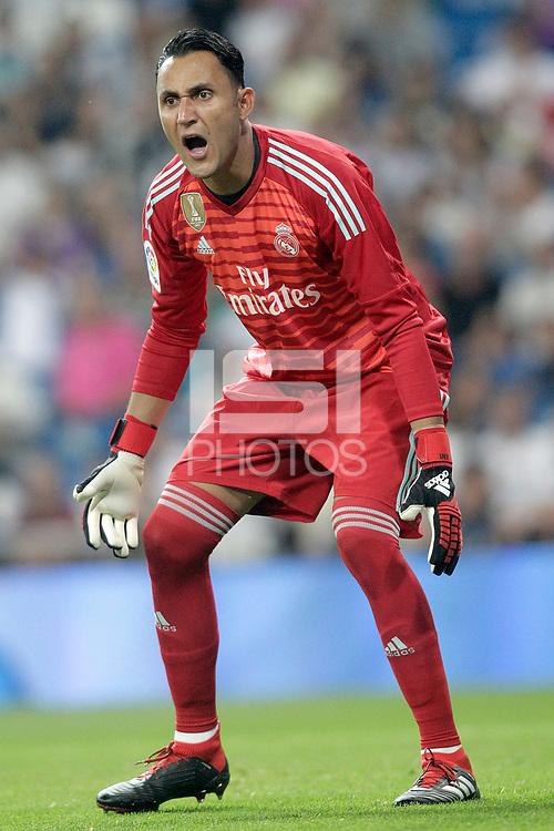 Real Madrid's Keylor Navas during La Liga match. August 19,2018.  *** Local Caption *** © pixathlon<br /> Contact: +49-40-22 63 02 60 , info@pixathlon.de
