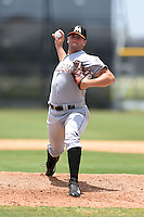 GCL Marlins pitcher Gregory Greve (40) delivers a pitch during a game against the GCL Nationals on June 28, 2014 at the Carl Barger Training Complex in Viera, Florida.  GCL Nationals defeated the GCL Marlins 5-0.  (Mike Janes/Four Seam Images)