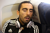 Wednesday 28 August 2013<br /> Pictured: Chico Flores.<br /> Re: Swansea City FC arrive to Romania for a press conference and training session, a day before their UEFA Europa League, play off round, 2nd leg, against Petrolul Ploiesti in Romania.