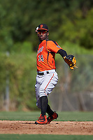 San Francisco Giants Kelvin Beltre (14) during an instructional league game against the Kansas City Royals on October 23, 2015 at the Papago Baseball Facility in Phoenix, Arizona.  (Mike Janes/Four Seam Images)