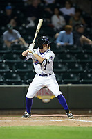 Jake Fincher (3) of the Winston-Salem Dash at bat against the Myrtle Beach Pelicans at BB&T Ballpark on May 11, 2017 in Winston-Salem, North Carolina.  The Pelicans defeated the Dash 9-7.  (Brian Westerholt/Four Seam Images)
