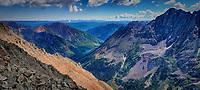 View from Maroon Peak 14,163 ft (4,317 m) in Aspen, Colorado