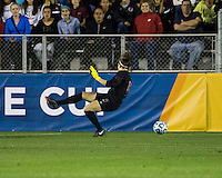 Number one seeds Virginia Tech and Florida State play in the the NCAA Division I Soccer Tournament semifinals at Wakemed Soccer Park in Cary, NC on December 6, 2013.  Ashley Manning (12) scores the first goal as Florida State goal keeper Kelsey Wys (19) watches the ball go by.