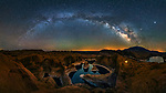 Pictured: The Milky Way with Reflection Canyon, Utah<br /> <br /> This beautiful series of photographs shows the Milky Way as seen from different continents around the world.   Photographer Hua Zhu travelled the globe over the course of four years to capture the starry night sky from already stunning locations. <br /> <br /> The medical professor visited picturesque landmarks in the USA, Kenya, New Zealand and China, including the Great Wall in Beijing.  Chinese Dr Zhu, who lives in New Jersey, USA, said he meticulously planned the trips by researching when the Milky Way would be on show.   SEE OUR COPY FOR DETAILS<br /> <br /> Please byline: Hua Zhu/Solent News<br /> <br /> © Hua Zhu/Solent News & Photo Agency<br /> UK +44 (0) 2380 458800