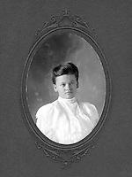 Portrait of Annie Fowler, young woman from rural Texas town, circa 1900-1910. Annie Fowler. Marble Falls, Texas.