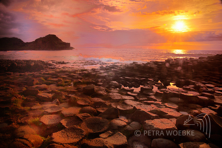 NORTH IRELAND<br /> GIANT'S FOOTPATH  at GIANT'S CAUSEWAY