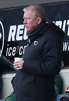 16th April 2021; Ewood Park, Blackburn, Lancashire, England; English Football League Championship Football, Blackburn Rovers versus Derby County; Derby County Technical Director follows the action from the stand