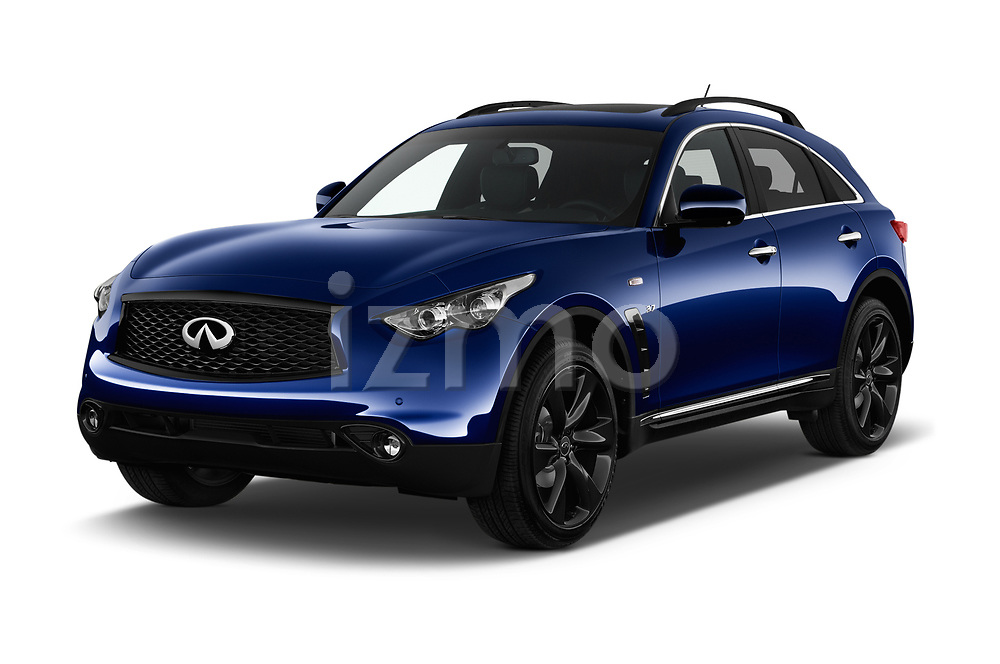 2018 Infiniti QX70 S 5 Door SUV angular front stock photos of front three quarter view