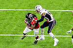 Atlanta Falcons running back Devonta Freeman (24) in action during Super Bowl LI at the NRG Stadium in Houston, Texas.