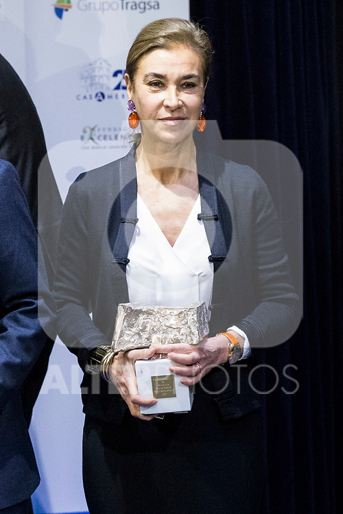 "Carmen Posadas  attends XXXIV International prizes of journalism ""Rey de Espana"" and the XIII edition of the prize ""Don Quijote"" of journalism in Madrid, Spain. March 27, 2017. (ALTERPHOTOS / Rodrigo Jimenez)"