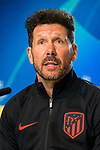 Coach Diego Pablo Simeone attends the Press Conference previous to Atletico de Madrid vs Lokomotiv Moscu game of Champions League at Wanda Metropolitano. December 10 2019. (Alterphotos/Francis Gonzalez)